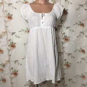 J Crew White 100% Cotton Cover Up Dress